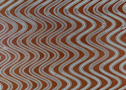 Lamine Mokume Gane, texture Onde