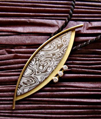 pendente mokume gane motifs