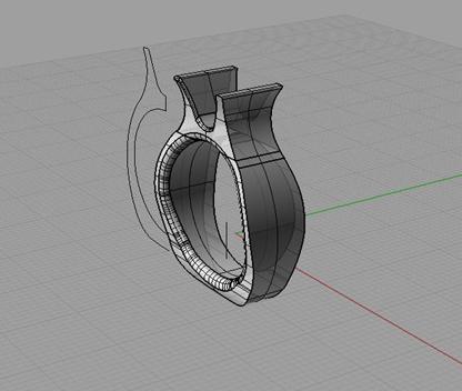 Disegno anello CAD
