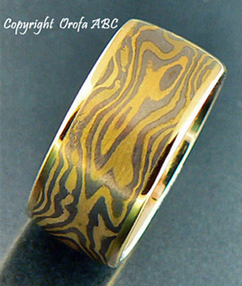 tiger mokume gane wedding ring