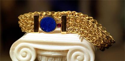 Bracciale in maglia romana, Collezione design