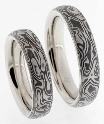 mokume gane wedding rings