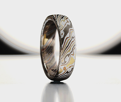 Mokume Gane wedding rings, Galleries