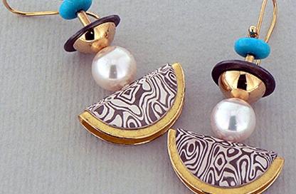 orecchini mokume
