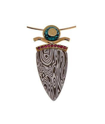 mokume gane ottoman pendant