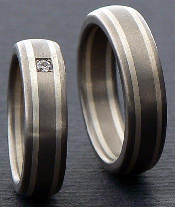 Fedi nuziali, anelli titanio puro