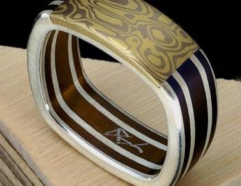 anello titanio e mokume gane