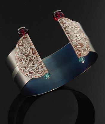 bracciale titanio mokume gane