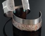 bracciali titanio e mokume gane