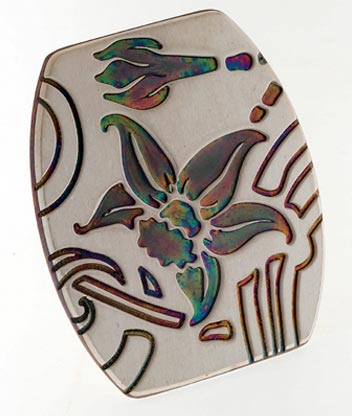pendente titanio floreale